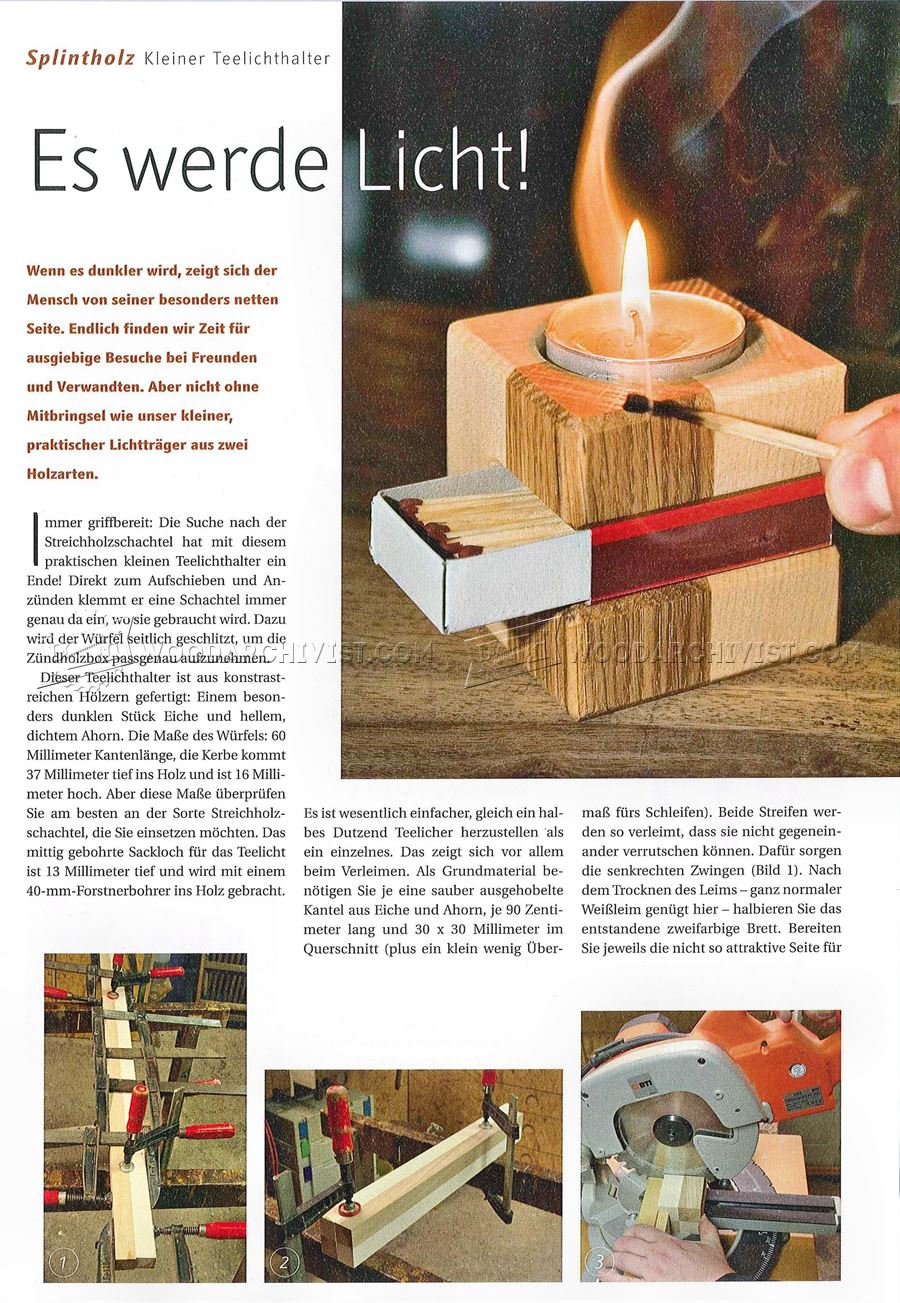 Making Simple Wooden Candlestick