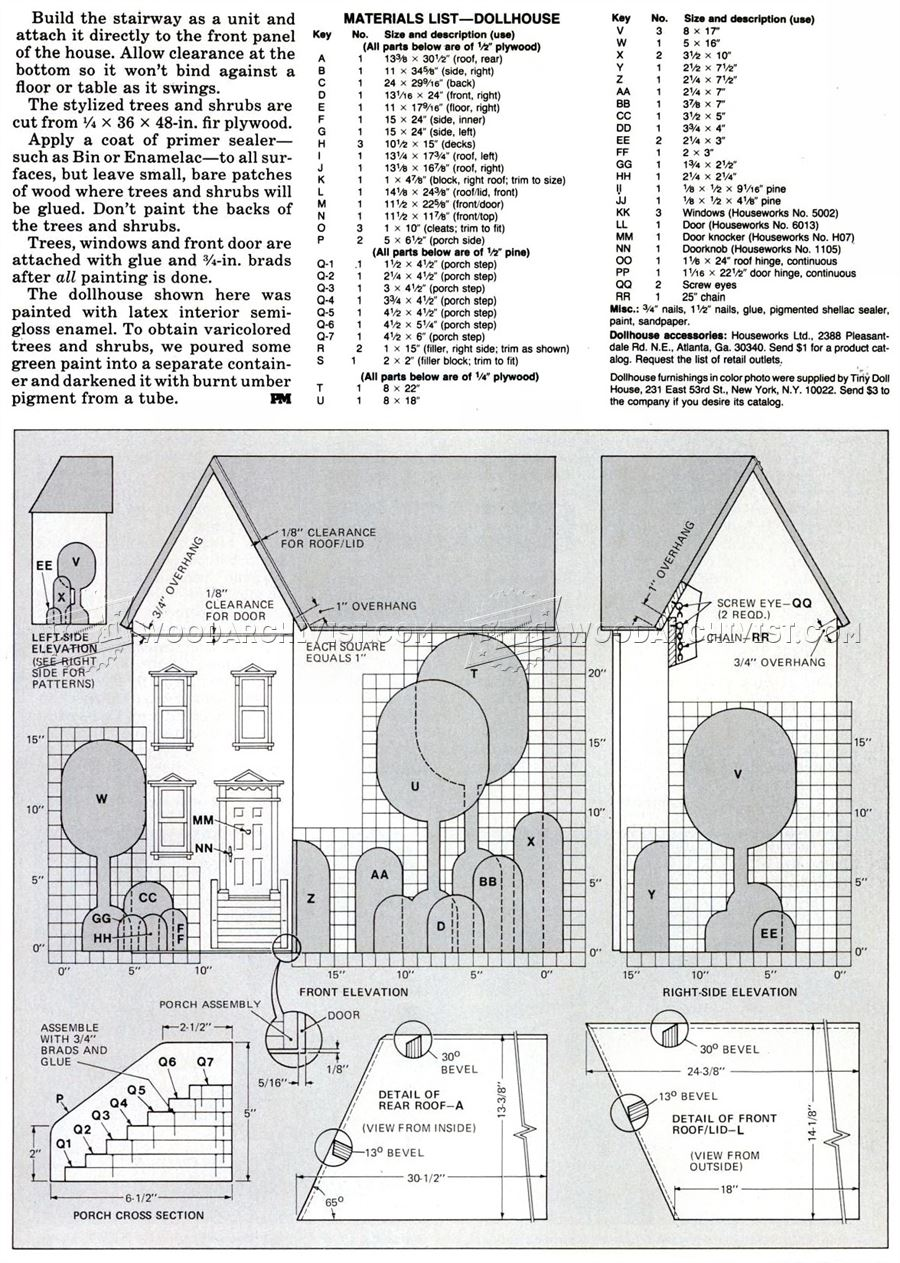 Wooden Doll House Plans • WoodArchivist