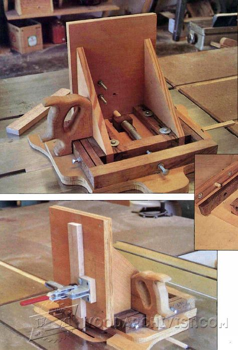 Advanced Tenon Jig Plans Woodarchivist