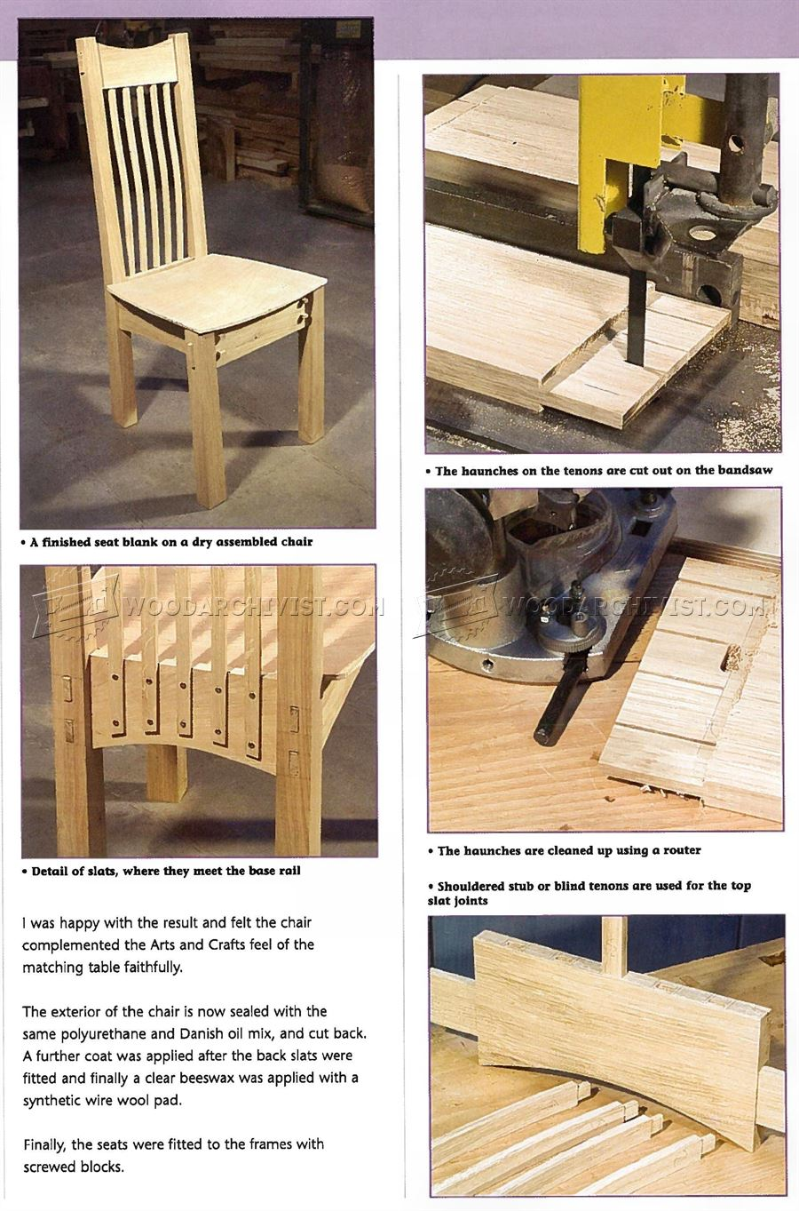 Arts and Crafts Chair Plans