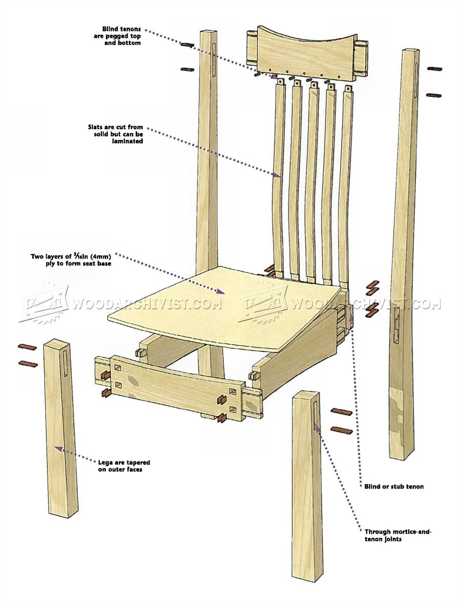 Arts and crafts furniture plans -  Arts And Crafts Chair Plans