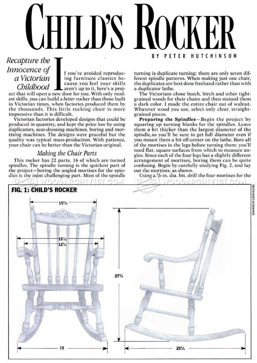 Kids Rocking Chair Plans - Childrens Furniture Plans