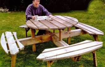 633-Circular Picnic Table Plans