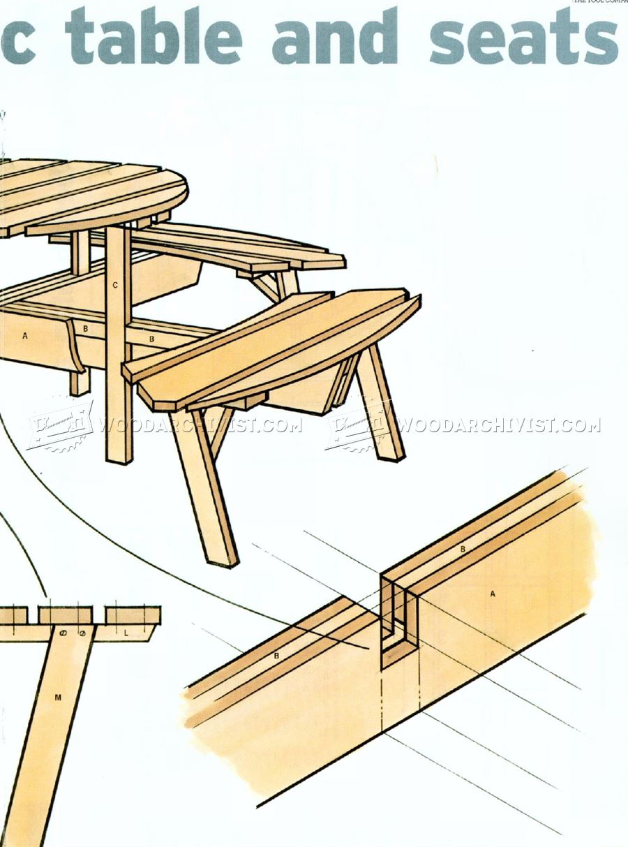 Circular Picnic Table Plans