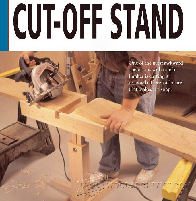 Circular Saw Cut Off Stand Plan Woodarchivist