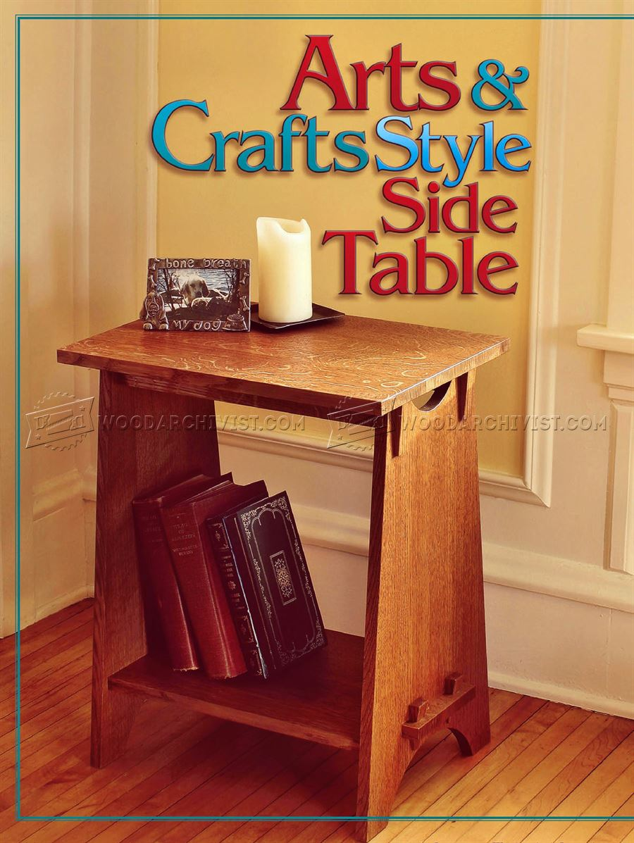Art and Crafts Style Side Table Plans