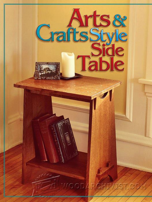 Art and crafts style side table plans woodarchivist for Arts and crafts style table