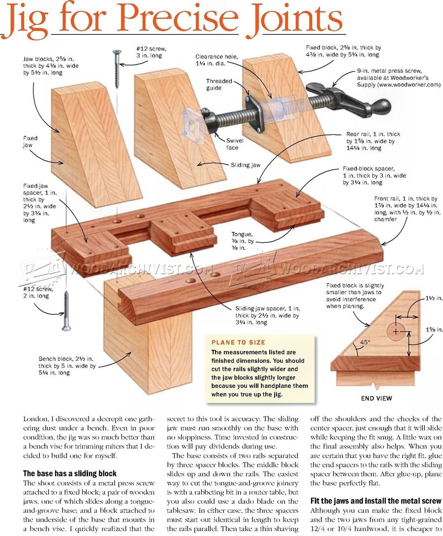 Miter Shooting Block Plans