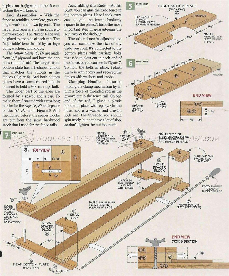 Router Dado Jig Plans Woodarchivist