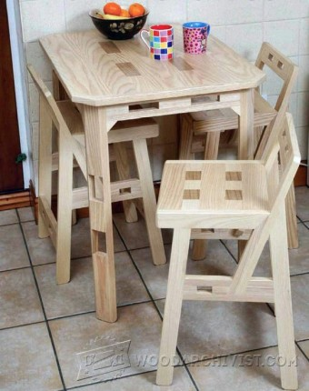 648-Kitchen Chair  Plans