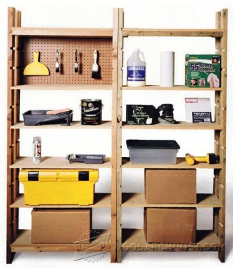 649-Storage Shelving Unit Plans