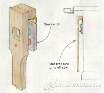 650-DIY Foot Switch for Table Saw