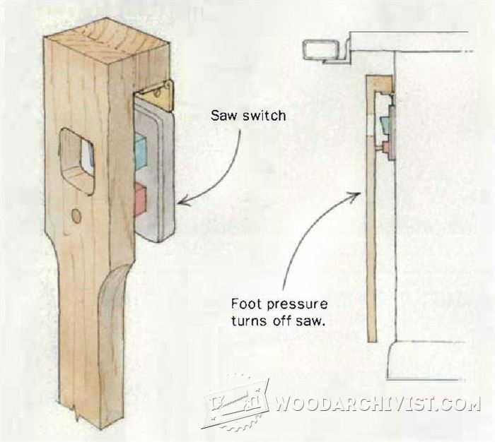 Diy Foot Switch For Table Saw  U2022 Woodarchivist