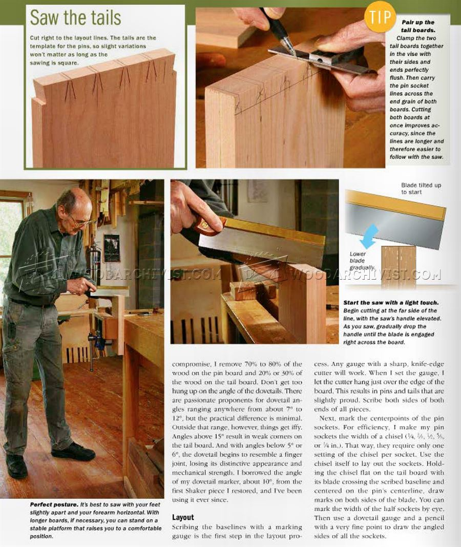 Hand-Cut Dovetail