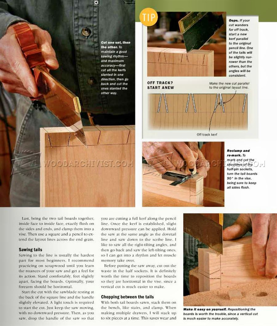 #653 Hand-Cut Dovetail