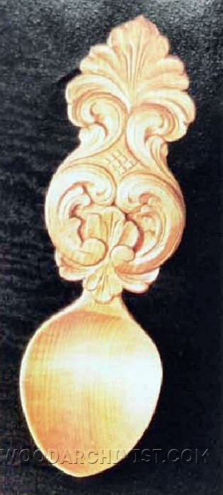 654-Acanthus Spoon Carving - Wood Carving Patterns