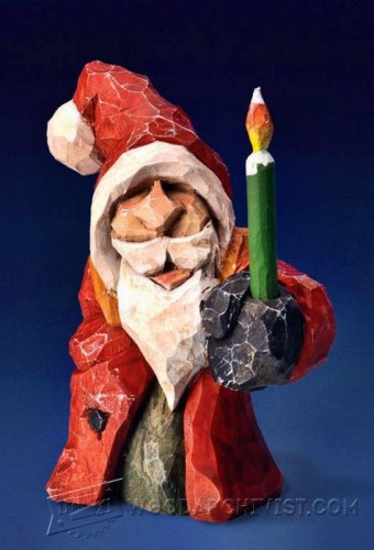 655-Santa Carving - Wood Carving Patterns