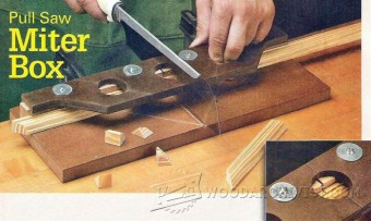 Diy Pull Saw Miter Box Woodarchivist