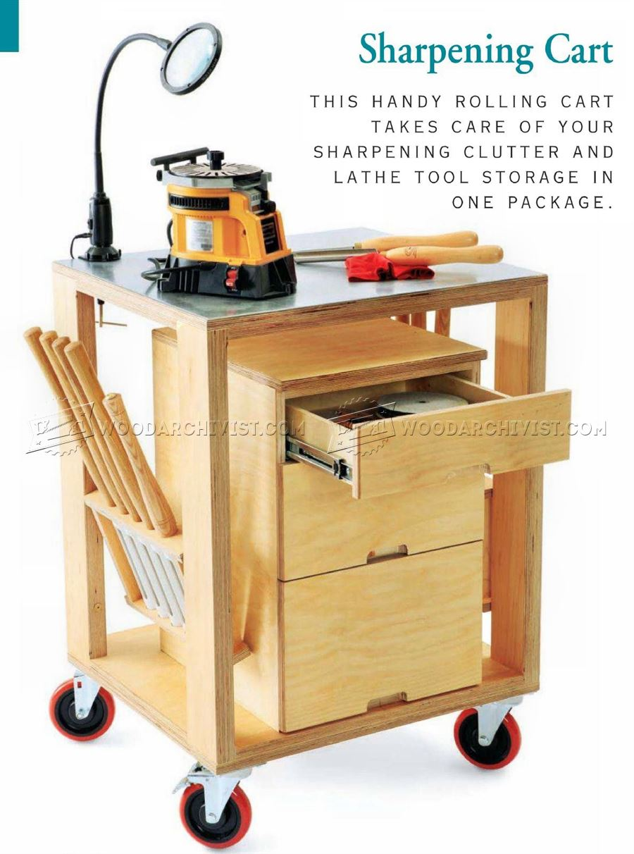 Sharpening Rolling Cart Plans