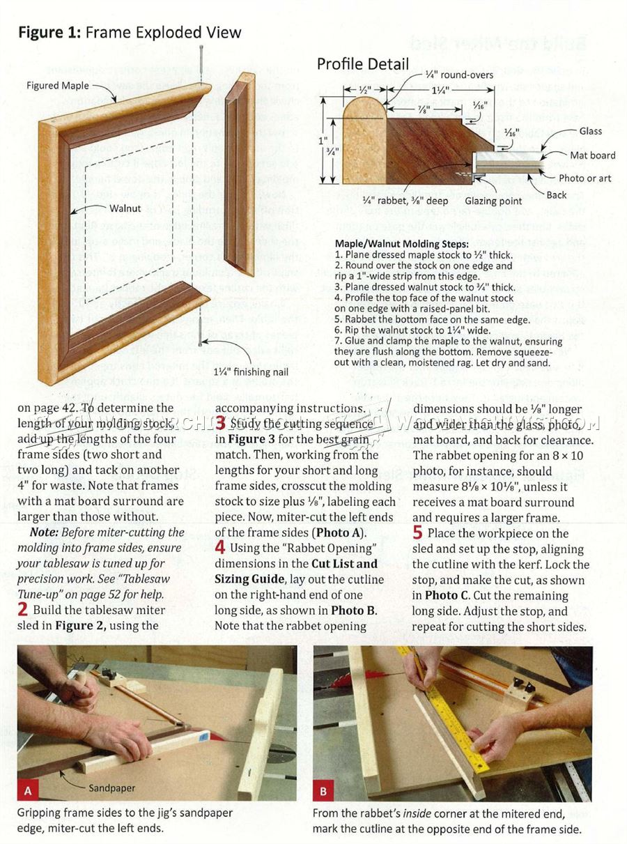 Make Molded Mitered Picture Frame