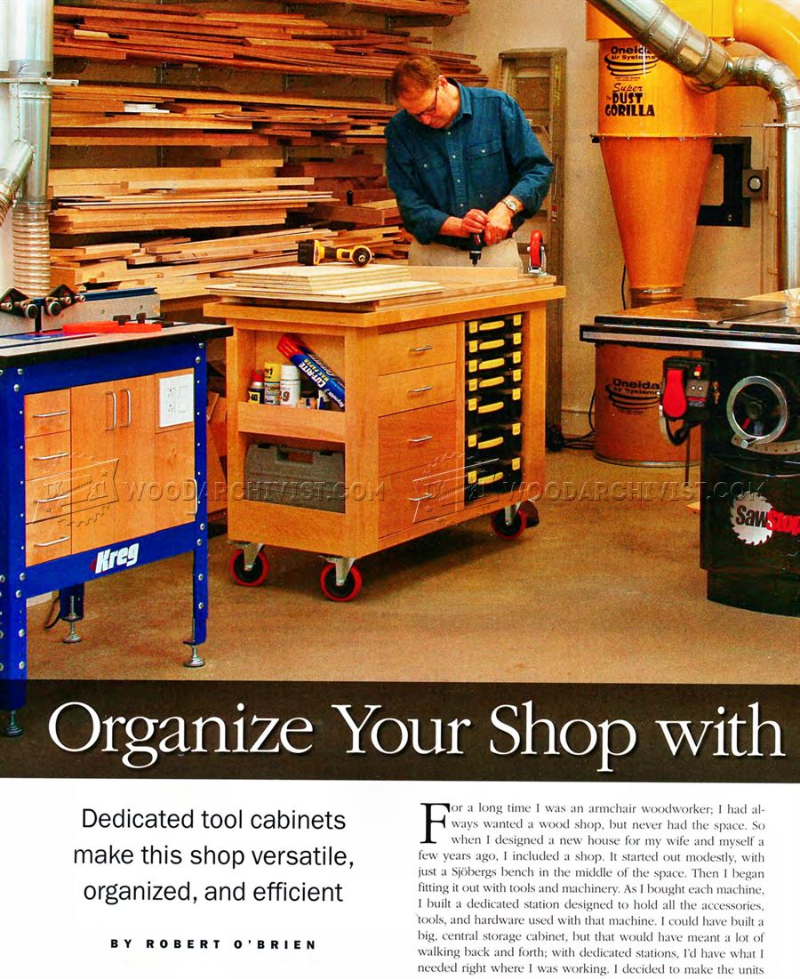 Organize Your Shop With Smart Carts