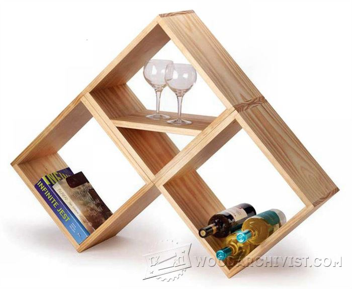 Bookshelf And Wine Rack Plan Woodarchivist