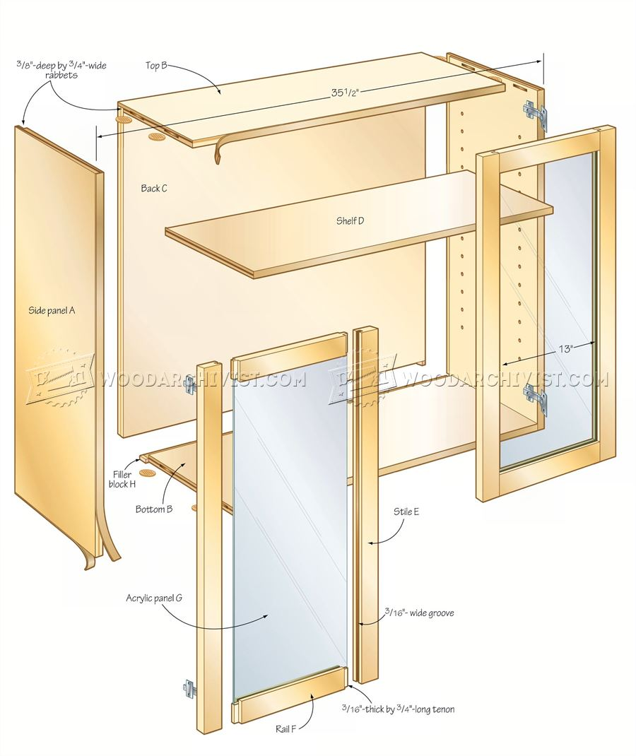 Hand Tool Wall Cabinet Plans • WoodArchivist