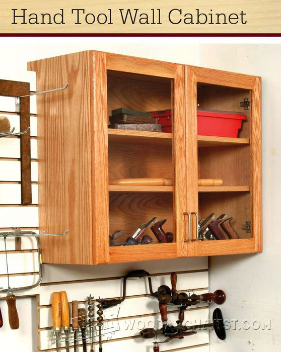 Hand tool wall cabinet plans woodarchivist for Cabinet design tool