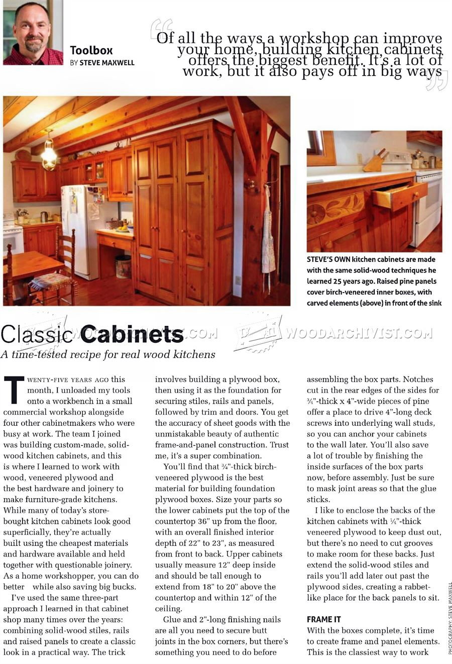 Classic Cabinets Plans