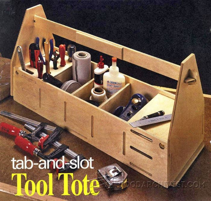 Tab-and-Slot Tool Tote Plans • WoodArchivist