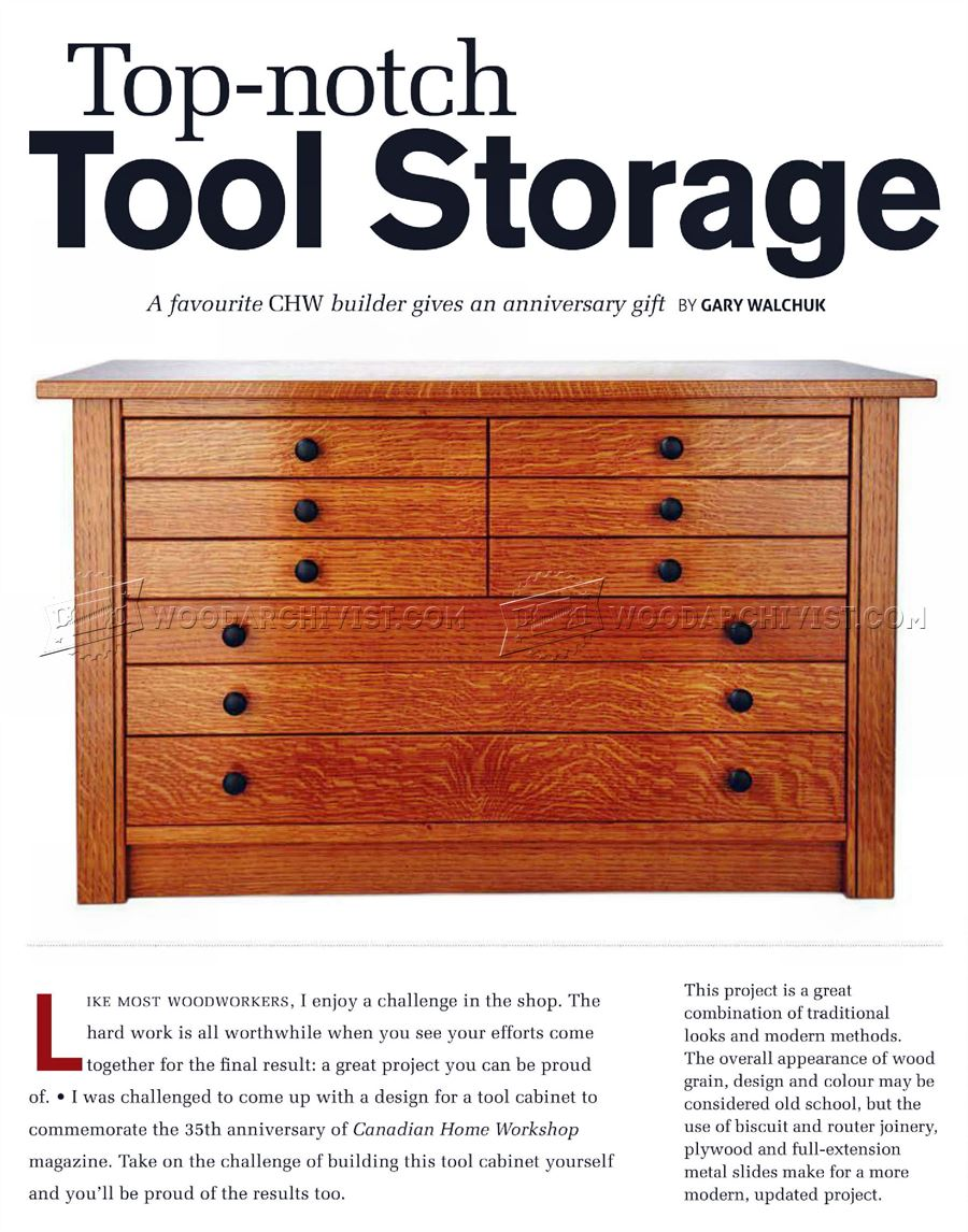 Tool Cabinet  Plans