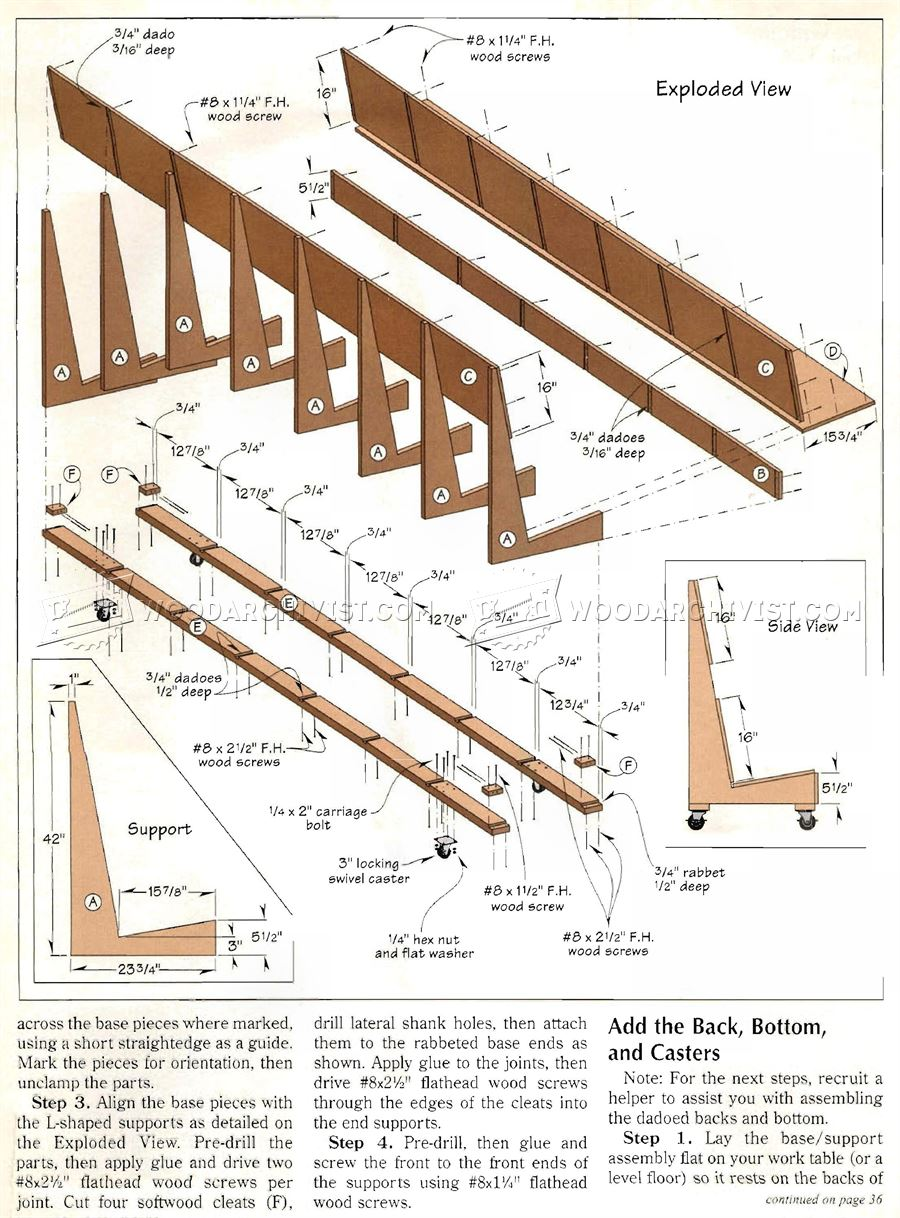 Mobile Plywood Storage Rack Plans
