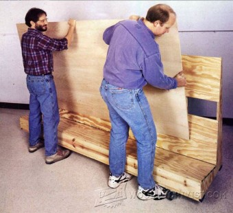 707-Mobile Plywood Storage Rack Plans