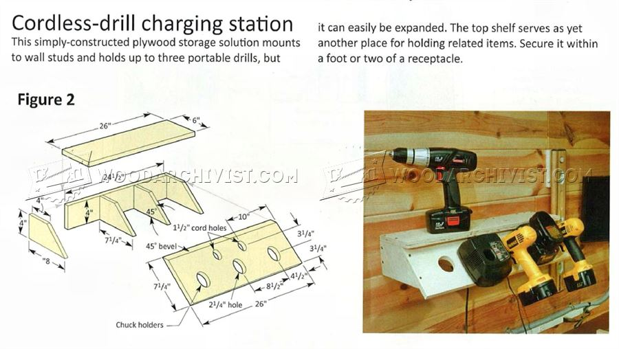 Cordless Drill Charging Station Plans - Workshop Solutions