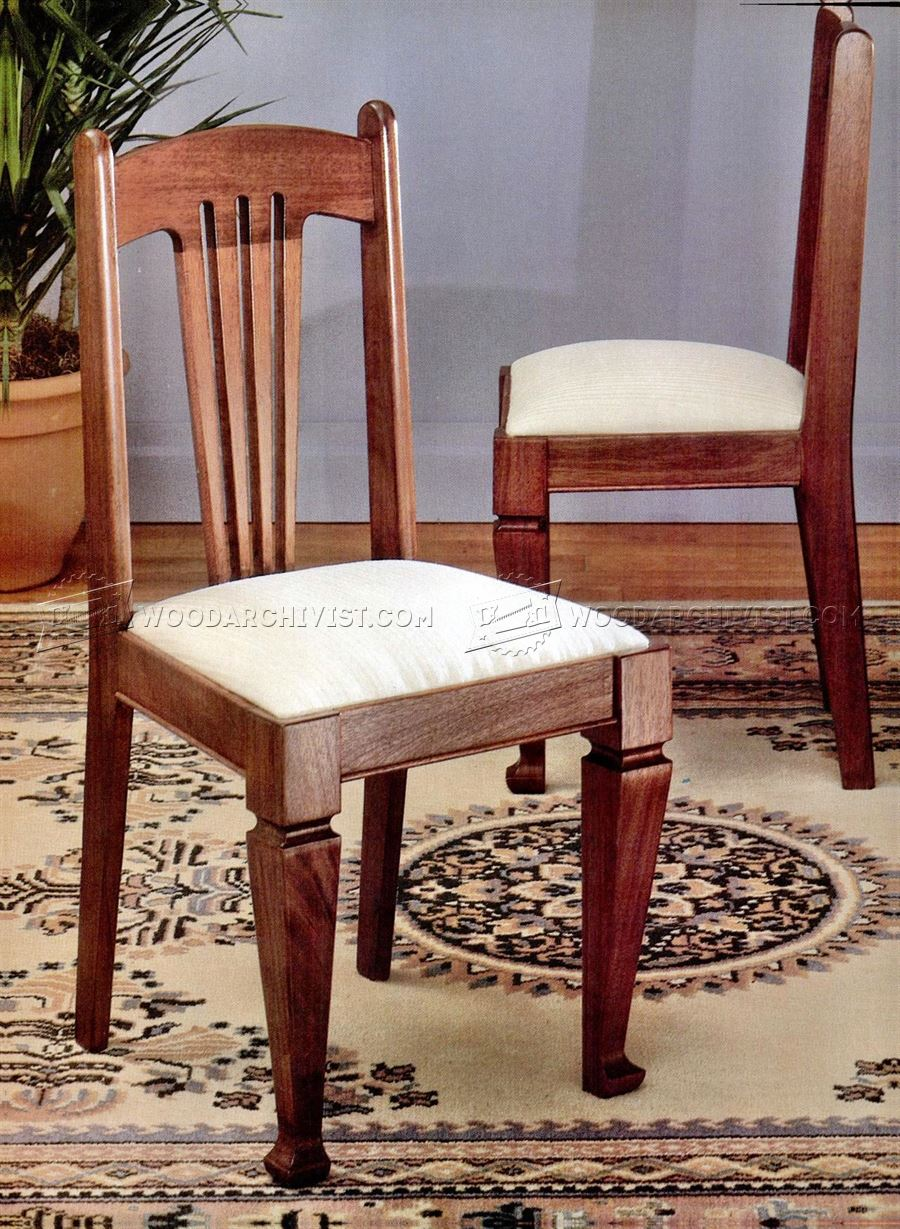 Dining chair plans woodarchivist for Dining chair designs wooden