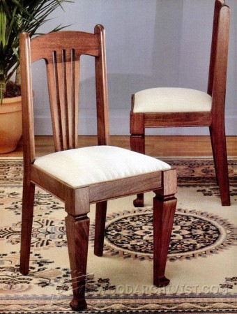 Pine Dining Chair Plans Woodarchivist