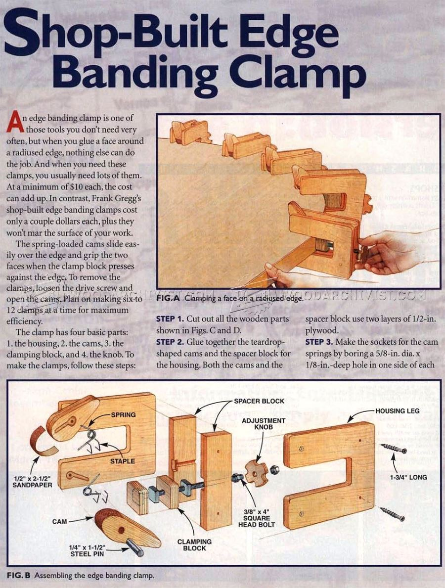 Shopmade Edge Banding Clamp