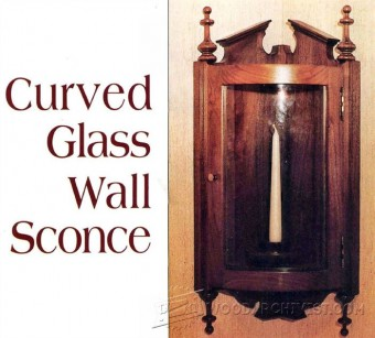 734-Curved Glass Wall Sconce Plans