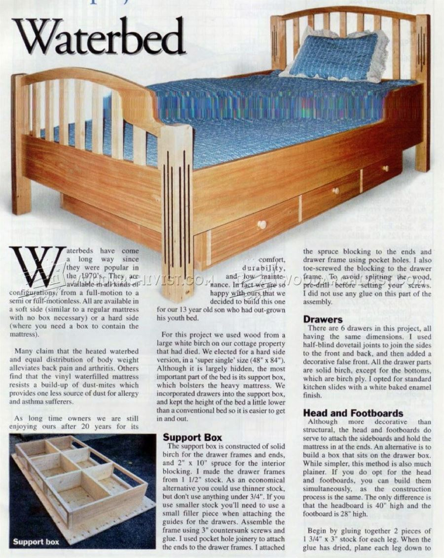 #759 Waterbed Plans