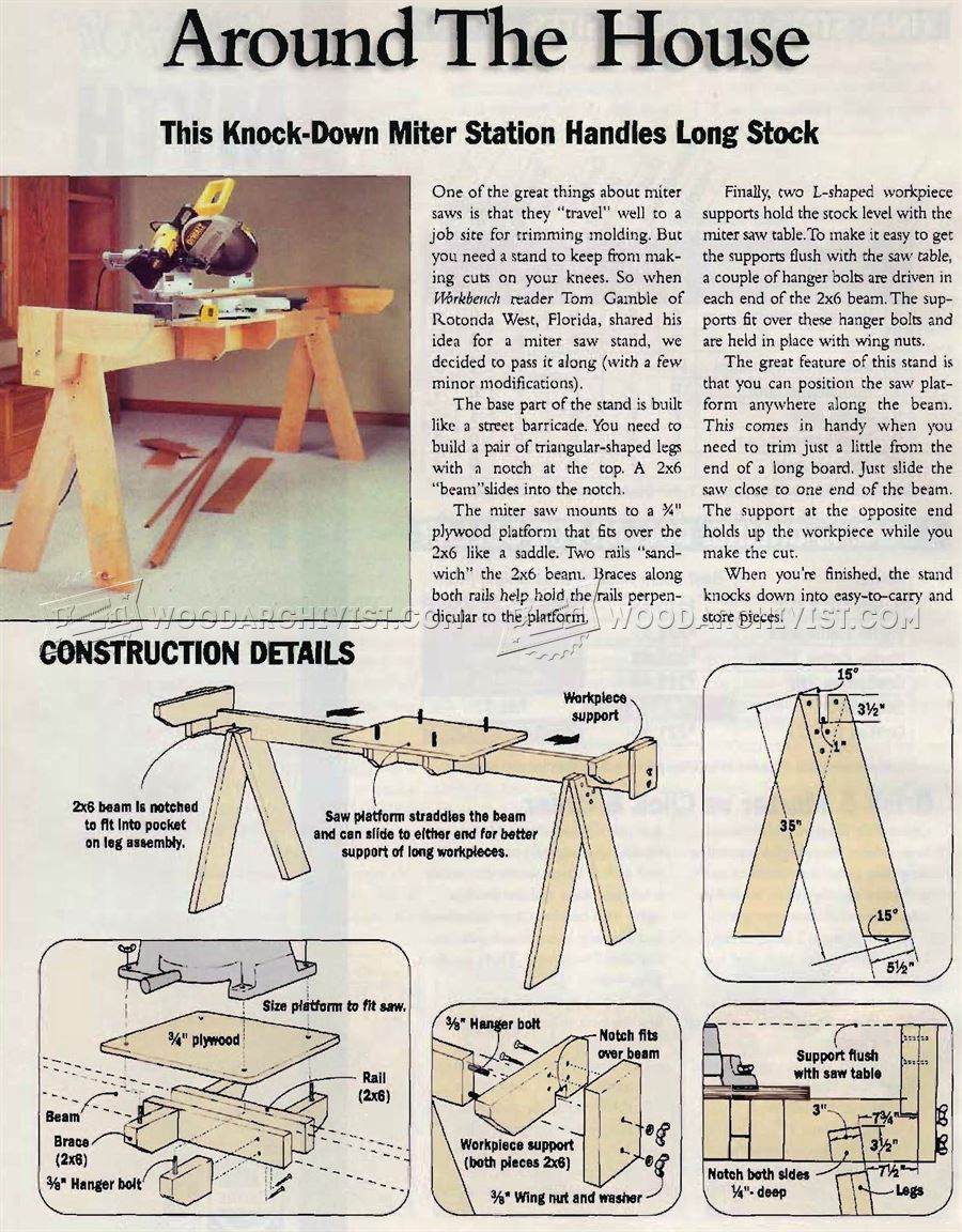 #760 Knock-Down Miter Saw Station Plans