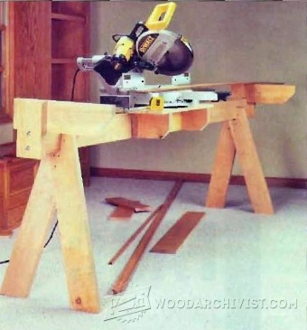 760-Knock-Down Miter Saw Station Plans