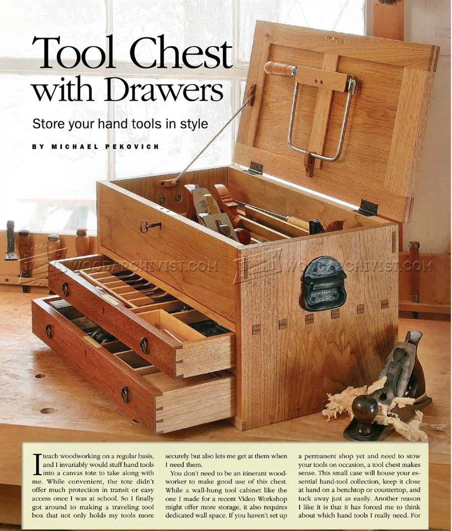 Tool chest plans woodarchivist