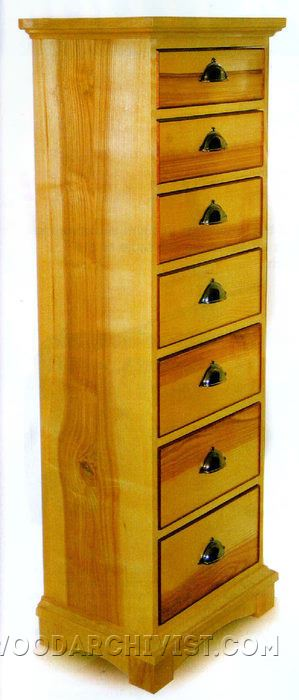765-High Chest of Drawers Plans