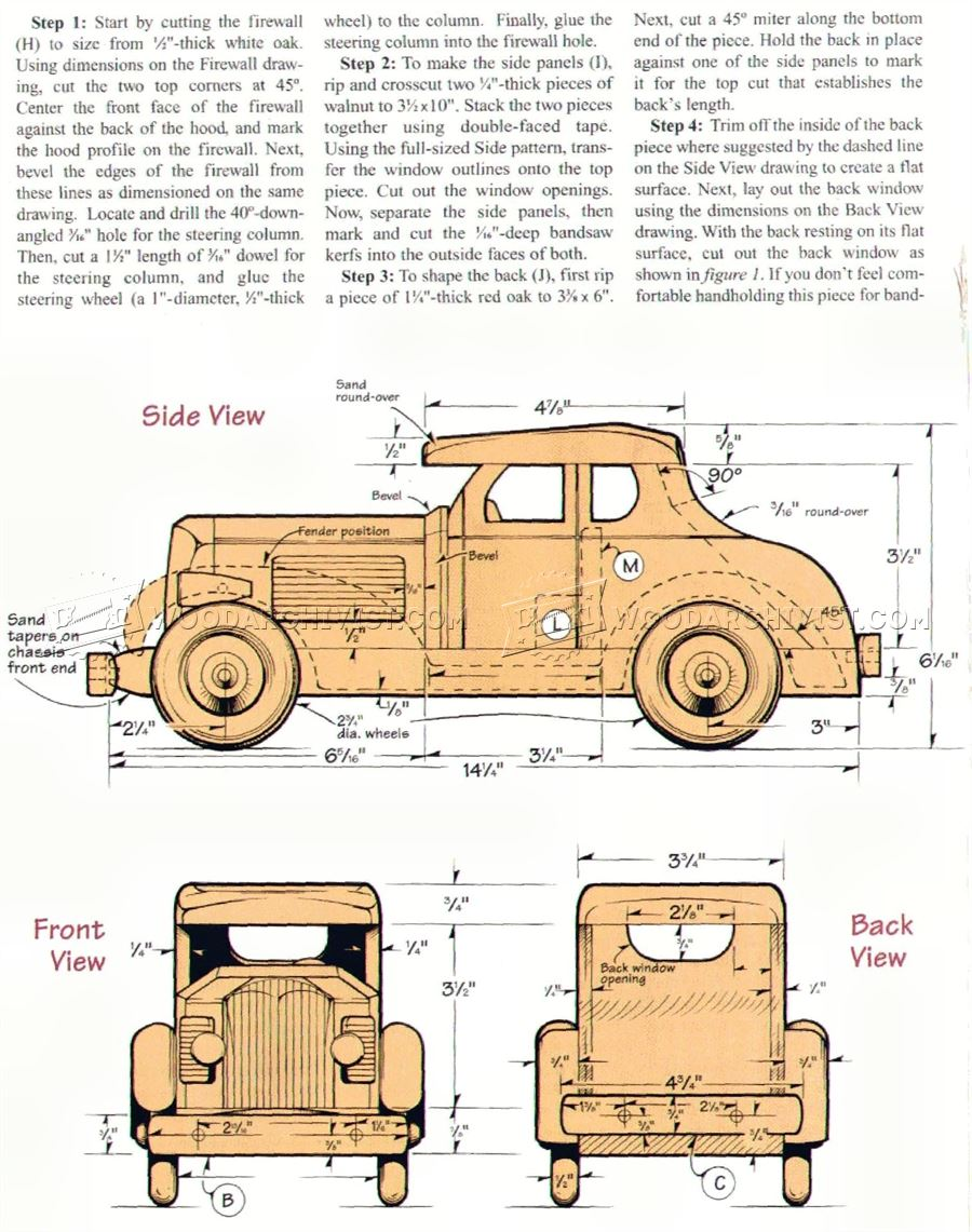 Toy Car Plans : Wooden deuce coupe plan woodarchivist