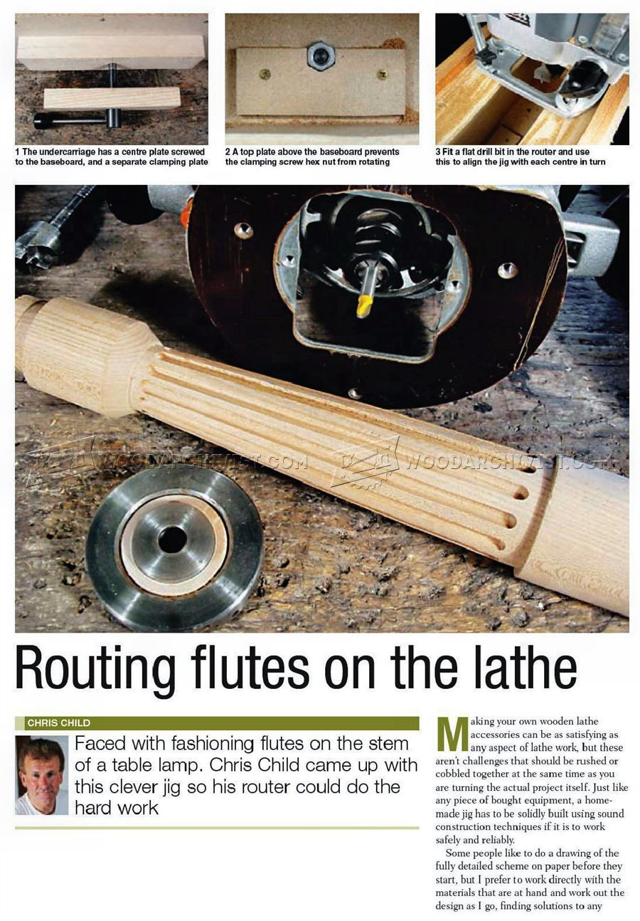Routing Flutes on the Lathe