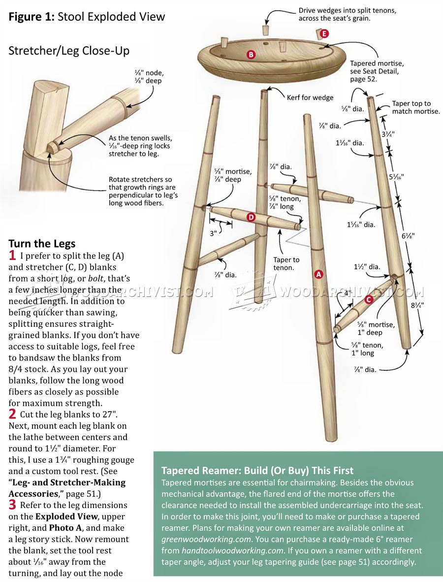 82 Wooden Bar Stool Plans Wooden Bar Stool With