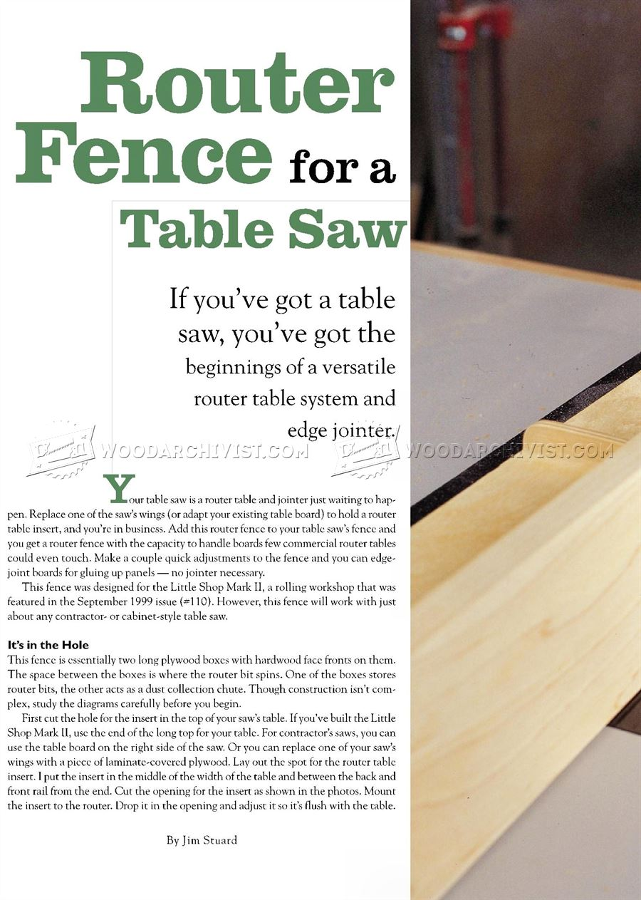 Router fence for a table saw woodarchivist router fence for a table saw keyboard keysfo Images
