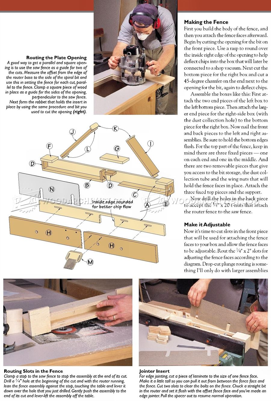 Router Fence for a Table Saw