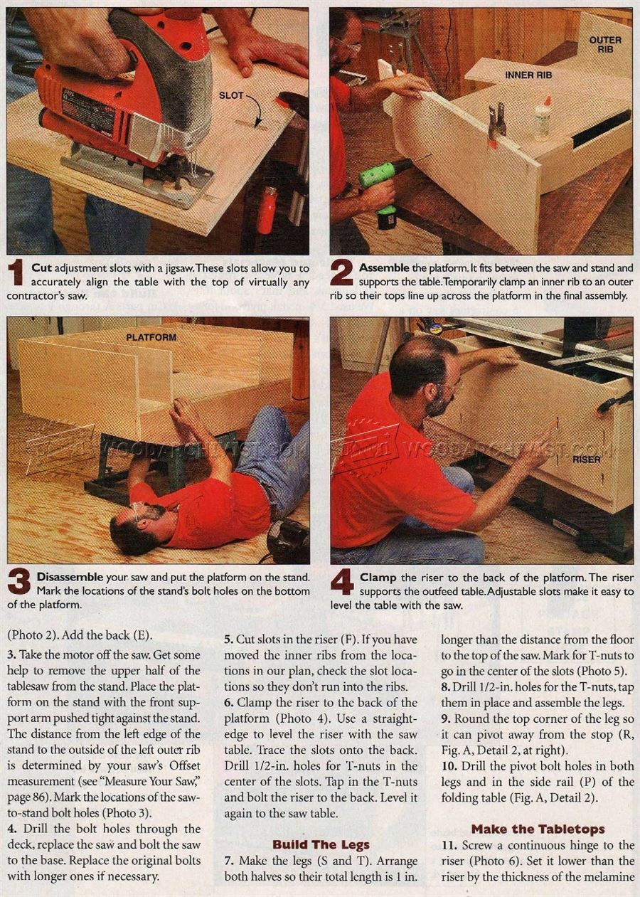 Folding Outfeed Table Plans