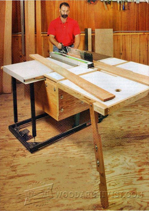 Folding Outfeed Table Plans Woodarchivist